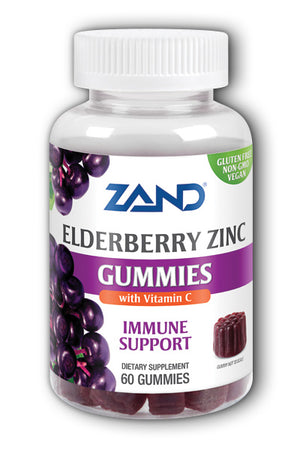 A bottle of Elderberry Zinc Gummies with Vitamin C Zand