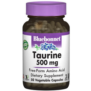 A bottle of Bluebonnet Taurine 500 mg