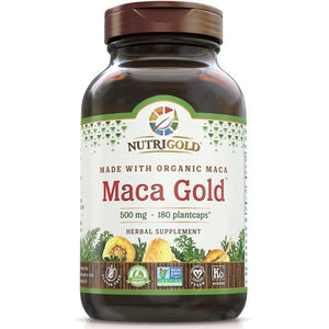A bottle of NutriGold Maca Gold