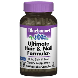 A bottle of Bluebonnet Ultimate Hair & Nail Formula®