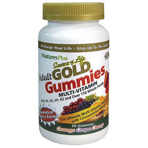 A jar of Nature's Plus Source of Life® GOLD Adult Multi Gummies