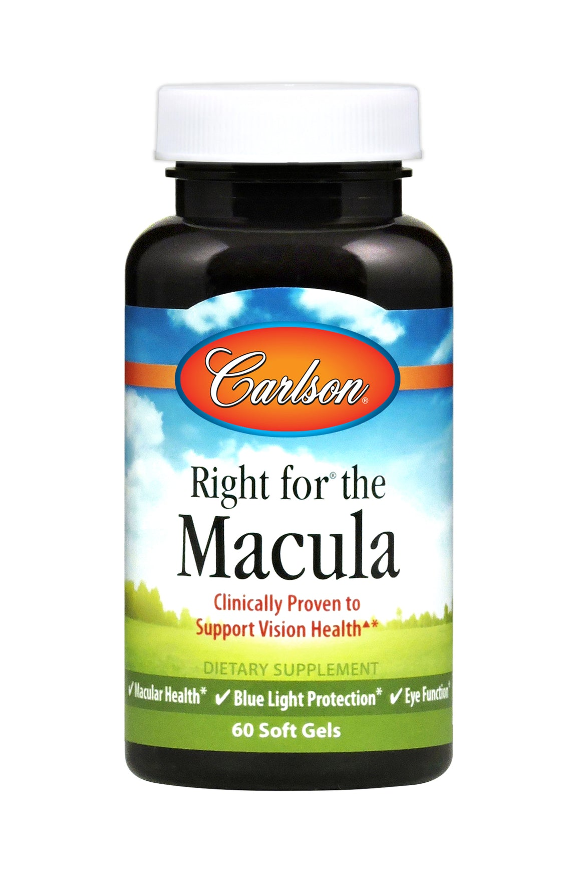 A bottle of Carlson Right for the Macula