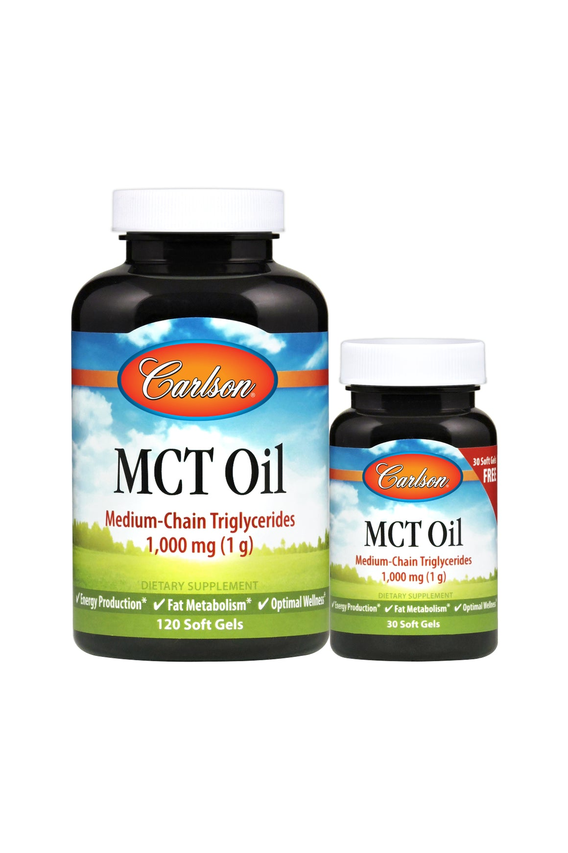 Two jars of Carlson MCT Oil