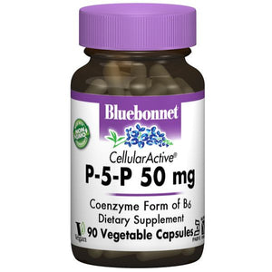 A bottle of Bluebonnet Cellular Active® P-5P 50 mg