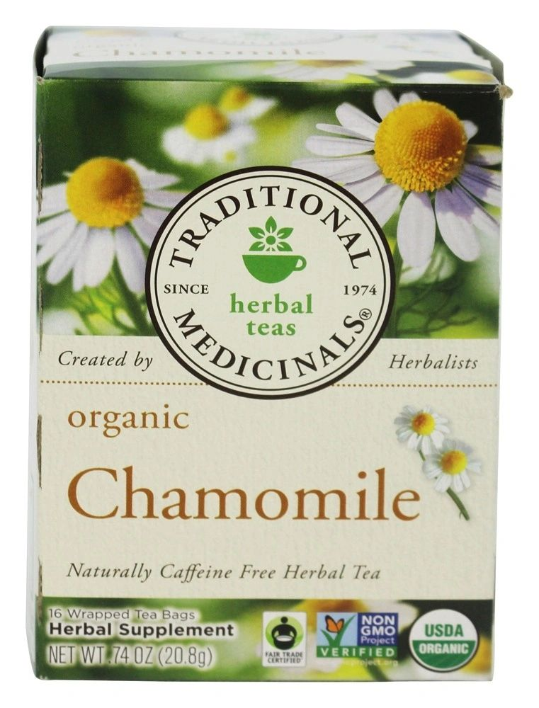 A box of Traditional Medicinals Organic Chamomile Tea
