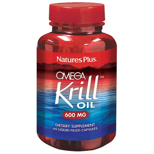 A bottle of Nature's Plus Omega Krill Oil 600 MG