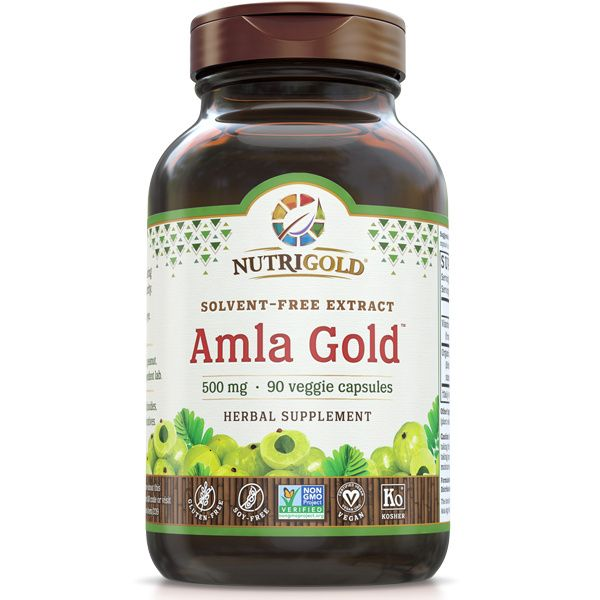 A bottle of NutriGold Amla Gold