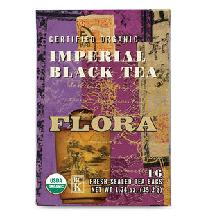 A box of Flora Imperial Black Tea