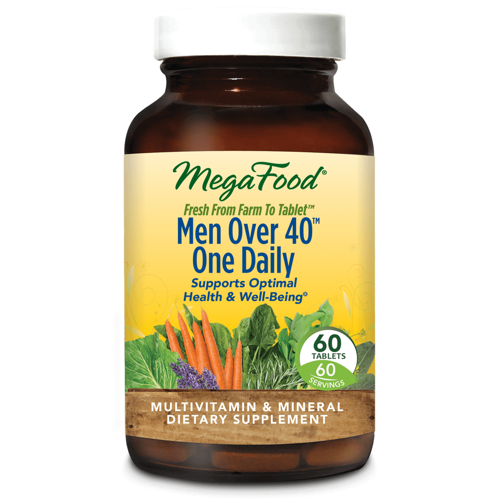 A bottle of Megafood Men Over 40™ One Daily