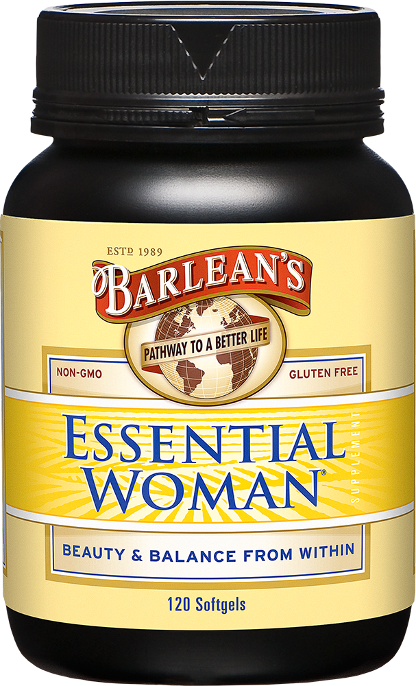 A bottle of Barleans Essential Woman®