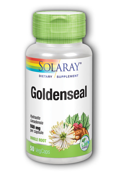 A bottle of Solaray Goldenseal Root