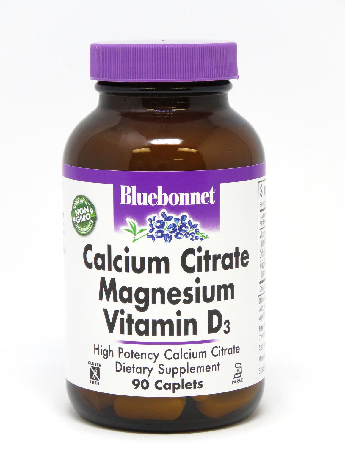A bottle of Bluebonnet Calcium Citrate Magnesium Plus Vitamin D3