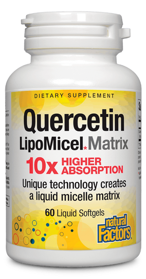 Quercetin 250 mg LipoMicel Matrix Natural Factors - 60 liquid softgels