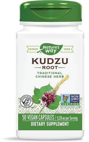 A bottle of Nature's Way Kudzu Root Extract