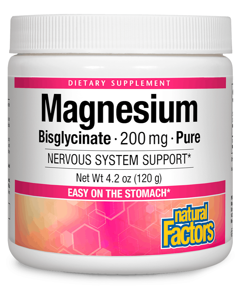 Magnesium Bisglycinate 200 mg · Pure