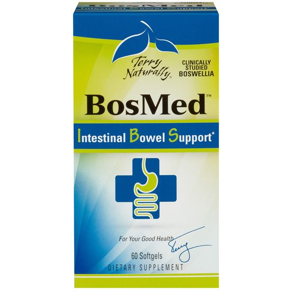 A package of Terry Naturally BosMed® Intestinal Bowel Support*