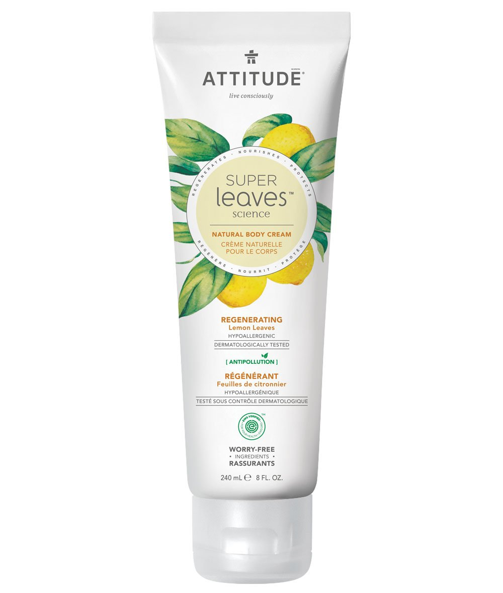 Regenerating Natural Body Cream - Lemon Leaves - Attitude
