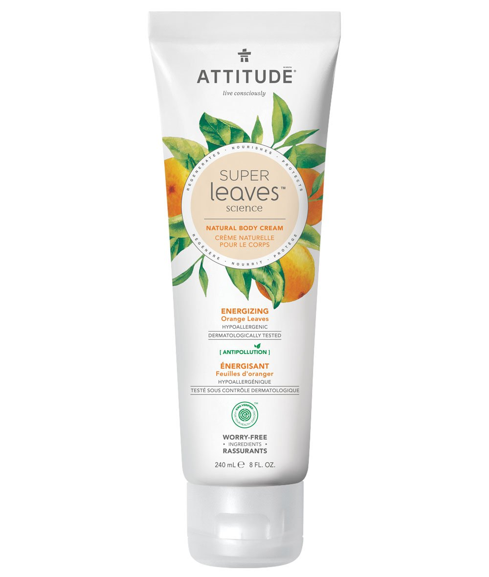 Energizing Natural Body Cream - Orange Leaves - Attitude