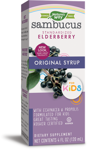 A package of Nature's Way Sambucus for Kids Syrup