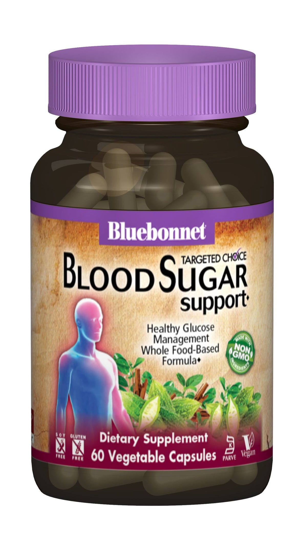 A bottle of Bluebonnet Targeted Choice® Blood Sugar Support