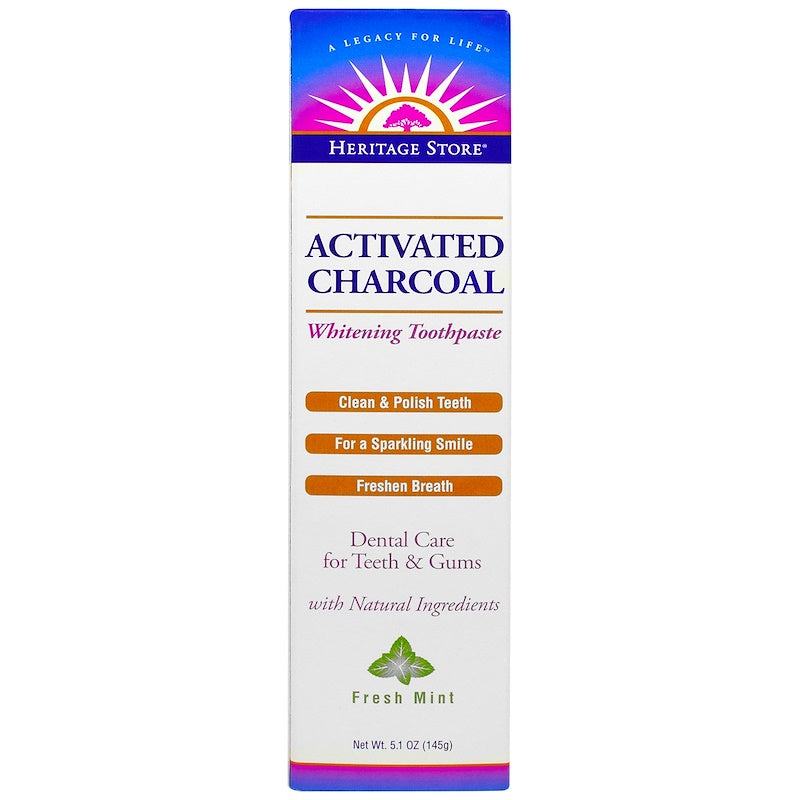 Package for Activated Charcoal Whitening Toothpaste