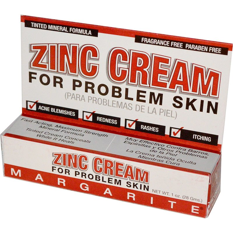 A package of Margarite Cosmetics Zinc Cream - For Problem Skin 1 oz (28 g)