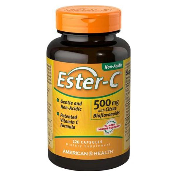 A bottle of American Health Ester-C® 500 mg
