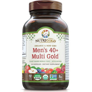 A bottle of NutriGold Men's 40+ Multi Gold