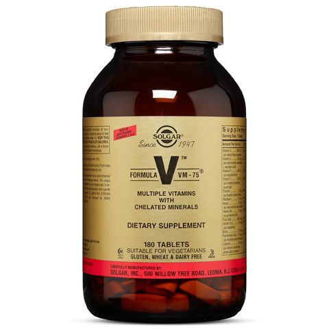 A bottle of Solgar for Formula VM-75®