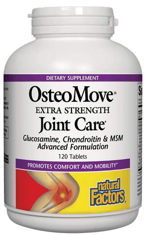 A bottle of Natural Factors OsteoMove® Joint Care Extra Strength