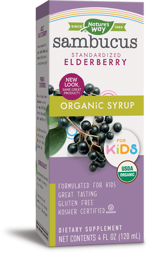 A package of Nature's Way Sambucus for Kids Organic