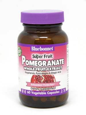 A bottle of Bluebonnet Super Fruit Pomegranate Whole Fruit Extract