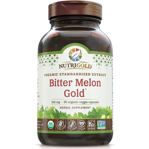 A bottle of NutriGold Bitter Melon Gold