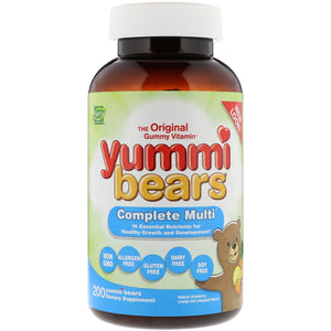 A bottle of Hero Nutritionals Yummi Bears Complete Multi