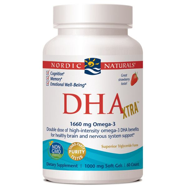 A bottle of Nordic Naturals DHA Xtra