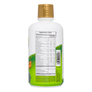 The side of the bottle with Supplemental Facts for Nature's Plus Animal Parade® GOLD Liquid - Children's Multi - Tropical Berry