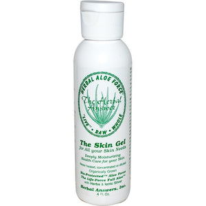 A bottle of Herbal Answers Herbal Aloe Force The Skin Gel, 4 fl oz