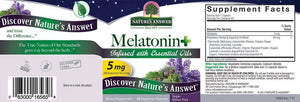 A label with supplemental facts for Nature's Answer Melatonin +