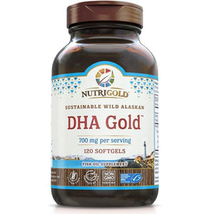 A bottle of NutriGold DHA Gold