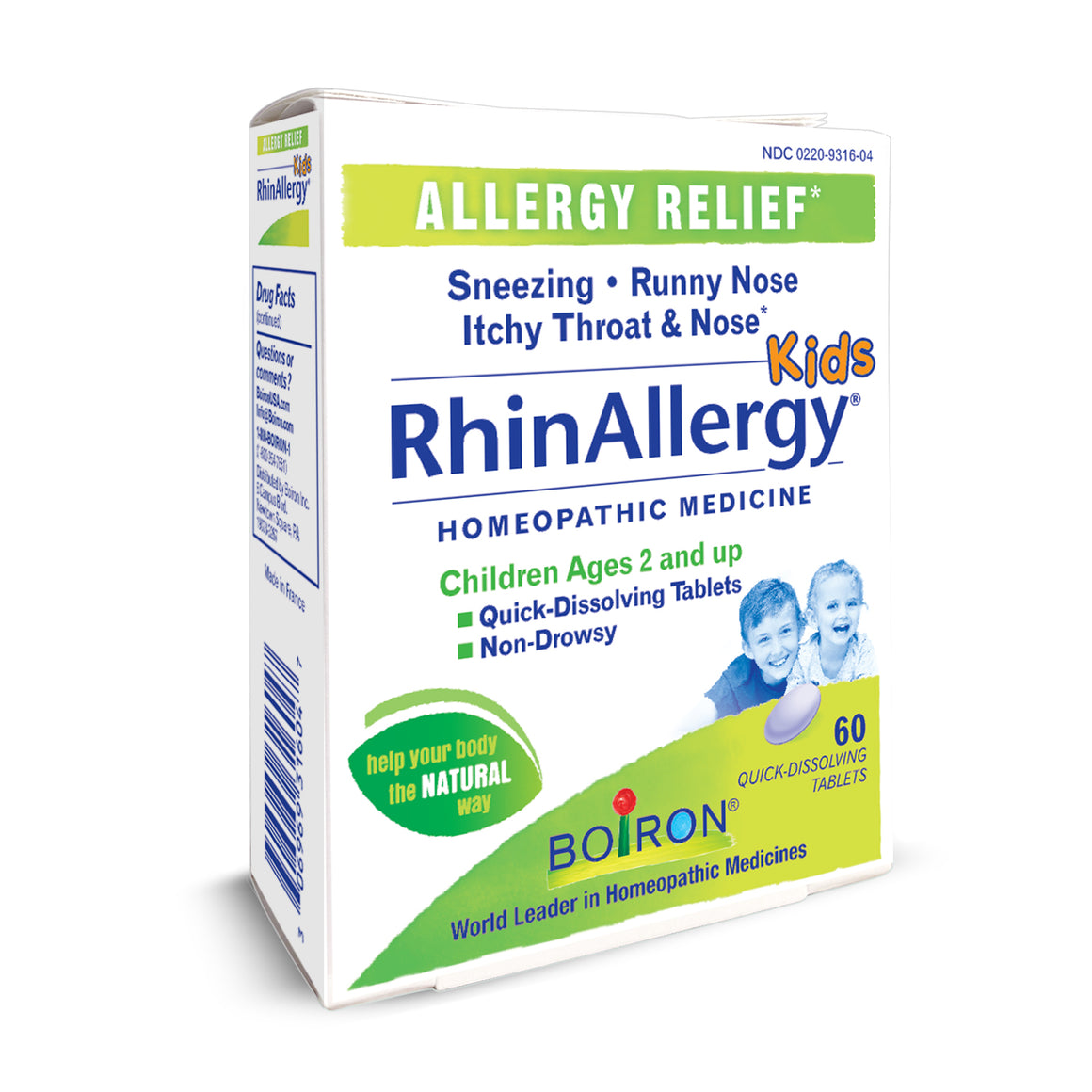 RhinAllergy® Kids Tablets Boiron
