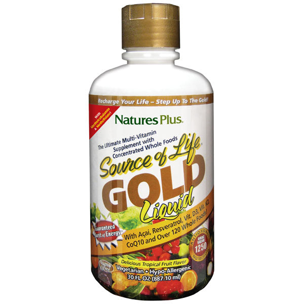 A bottle of Nature's Plus Source Of Life Gold Liquid 30 Oz