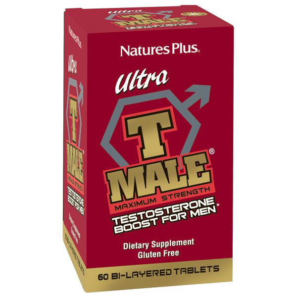 A package of Nature's Plus Ultra T Male Extended Release Bilayer Tablets