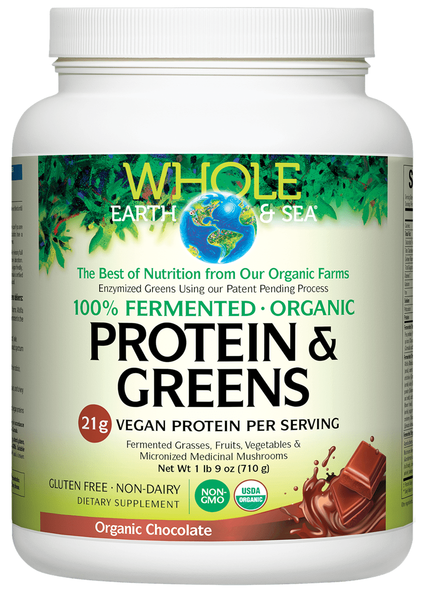 Whole Earth & Sea® 100% Fermented Organic Protein & Greens Organic Chocolate