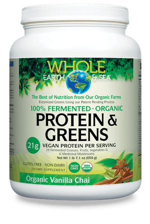 Whole Earth & Sea® 100% Fermented Organic Protein & Greens Organic Vanilla Chai
