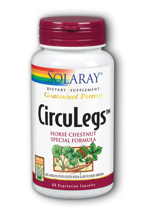 A bottle of Solaray CircuLegs™ - Horse Chestnut Special Formula