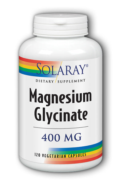 A bottle of Solaray Magnesium Glycinate