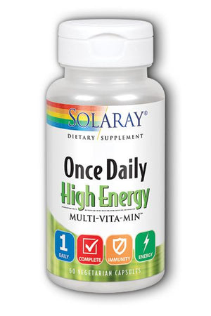 A bottle of Solaray Once Daily High Energy Multivitamin