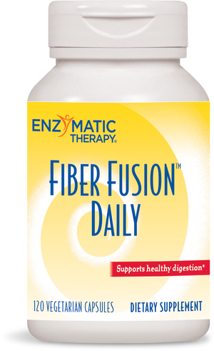 A bottle of Enzymatic Therapy Fiber Fusion™ Daily