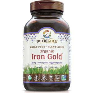 A bottle of NutriGold Iron Gold