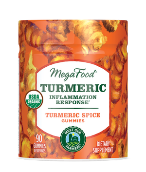 A jar for Megafood Gummy Turmeric Inflammation Response*